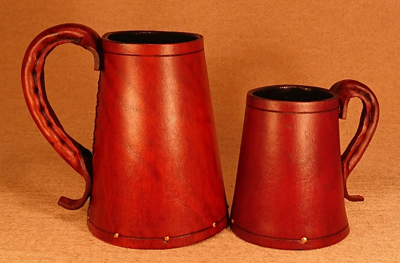 Leather Tankard Size comparison