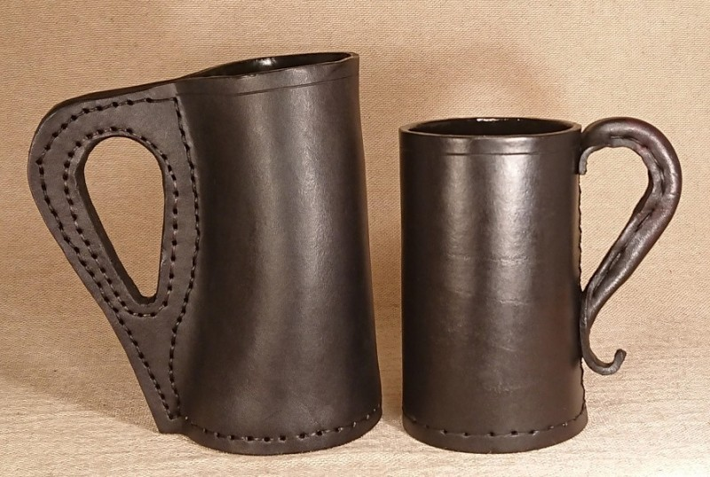 Medieval Leather Drinking vessels were known as Jacks and were usually black, the origin of the word Blackjack