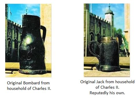 Original Bombard & Jack from Charles II Household. Jack reputedly his own.