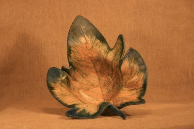 Trinket Dish Leaf –Blue and Green Speckle