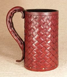 Basket Weave Hand Carved Leather