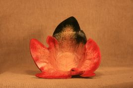 Trinket Dish Leaf –Green and Red Dual Speckle