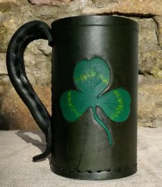 Irish Shamrock - Hand Carved
