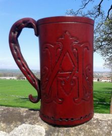 Personalised Leather Tankards
