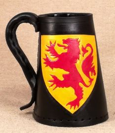 Scottish Heraldic Devices Leather Tankard