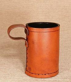 Viking Leather Thumb Beaker