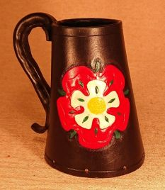 War Of The Roses Leather Tankards